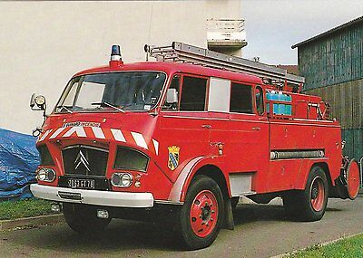 A French Citroen C600 Fire Service Postcard