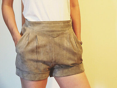Vintage Taupe Suede Shorts Size 8
