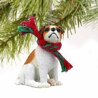 1 X Jack Russell Terrier Miniature Dog Ornament - Brown & White