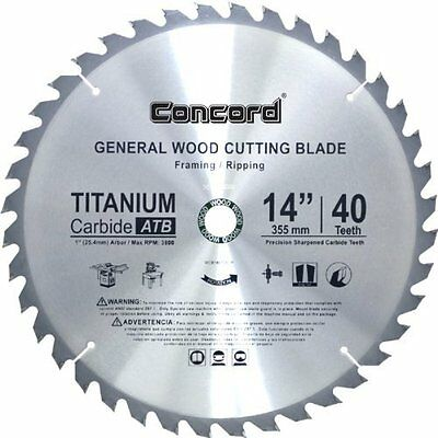 Concord Blades Circular Saw Blades WCB1400T040HP 14-Inch 40 Teeth TCT General