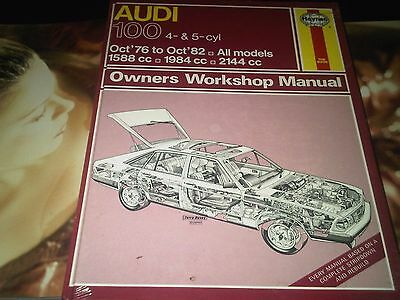 Audi 100 4 & 5 cyl 1976 to 1982 All Models Haynes Owners Workshop Manual SEALED!