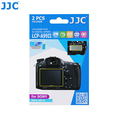 JJC 2pcs PET LCD Guard Film Camera Display Screen Protector For SONY Alpha a99II