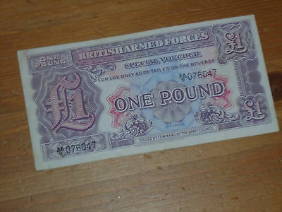 2nd  SERIES BRITISH ARMED FORCES ONE POUND NOTE