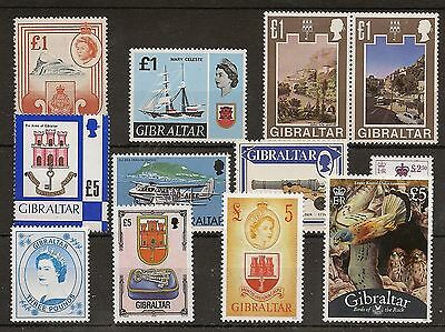 Gibraltar 1960-2014 95%  Complete Never Hinged Mint Cat £2400+