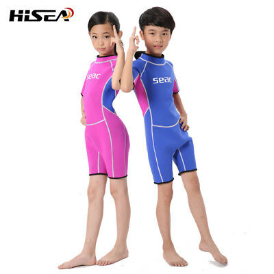 Kids Boys Girls 2mm Shorty Spring Wetsuit Scuba Dive Suit Surfing Swimming