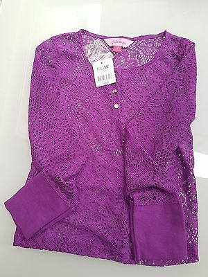 Girls size 8 purple lace top - Pink Sugar - New with tags