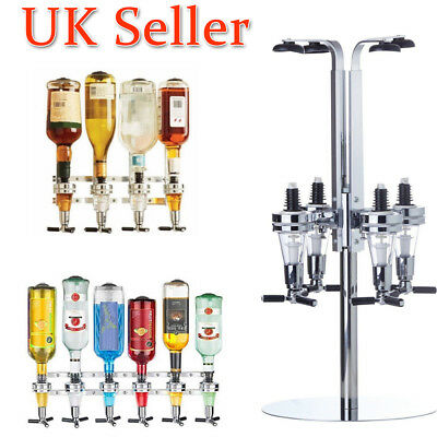 4/6 Wall Mounted Bottle Rotate Stand Optic Wine Dispenser Drinks Beer Bar Metal