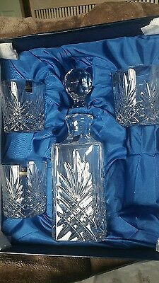 gleneagles lead crystal decanter and glasses