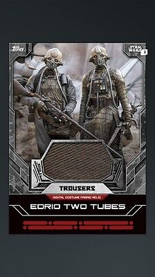 Star Wars Card Trader Digital Fabric Relic Two Tubes