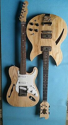 thinline telecaster and semi acoustic all solid tonewoods UK luthier build