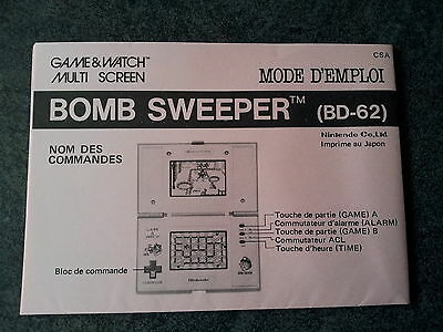 Game Watch Nintendo Notice Française Pour Jeu Multi Screen Bombsweeper