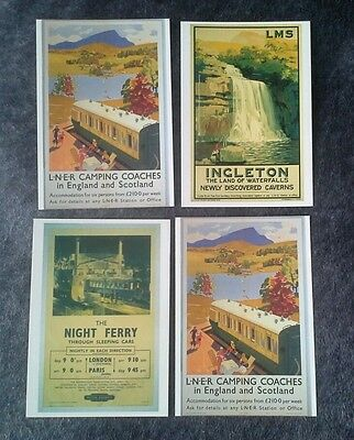 Railway Poster     Collection Of Postcards   Lot  02