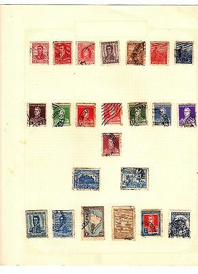 Antique ARGENTINA Stamps POSTALLY USED Postmarks ON PAGES