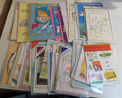 joblot of 50 mixed birthday greeting anniversary fun cards all with envelopes  3