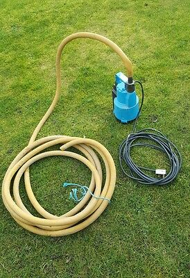 Submersible Centrifugal Water Pump 240v cw Discharge Hose