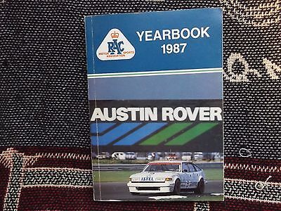 Rac Msa British Motor Sports Yearbook 1987 - Twr Istel Rover Sd1 Cover