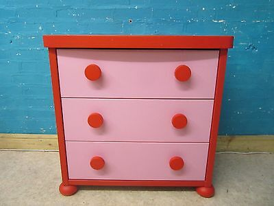 IKEA MAMMUT CHILDRENS CHEST OF 3 DRAWERS - PINK--more items listed