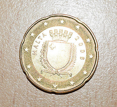 MALTA: 20 Euro Cent coin since 2008 in XF+ Condition.