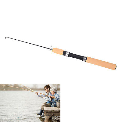 0.75M Telescopic Carbon Ice Fishing Rod Pole Winter Fish Tackle Portable Durable