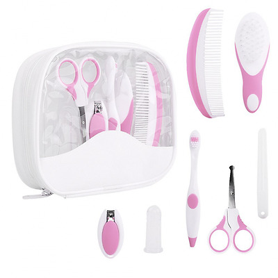 Baby Healthcare Kit - IntiPal 7-Piece Baby Grooming Kit Set (Pink)
