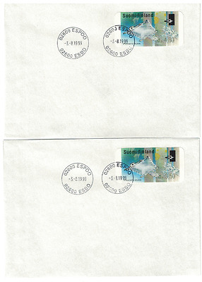 Finland 4 ATM- FDC, nice collection        flying squirrel