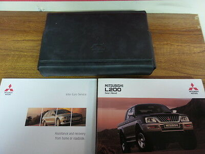 Mitsubishi L200 Owners Manual & Wallet 2003 - 2006