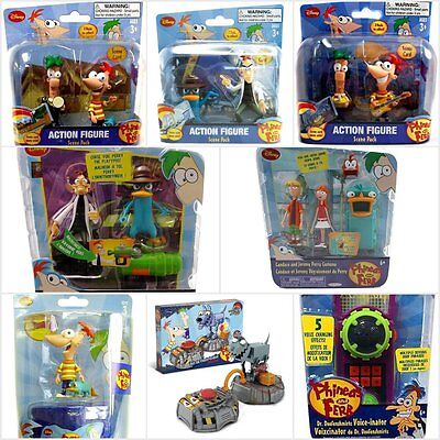 Disney Phineas And Ferb 2 Figures Pack Scene Collectible Agent P Voice Goo Pod