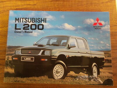 Mitsubishi L200 Owners Manual