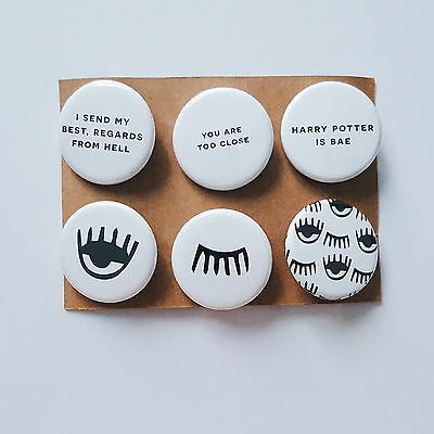 Tumblr Alternative Fashion Unique Evil Eye Quotes Bae Badges Pin Button Gift