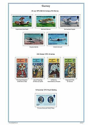 Guernsey & Alderney 2017 Colour Illustrated Stamp Album Pages on CD (305 pages).
