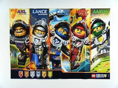 New Lego Nexo Knights Promotional Exclusive Character Poster