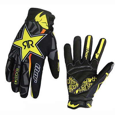 Yellow Thor Cycling Full Finger Gloves Motorcycle Motocross Downhill Racing MTB