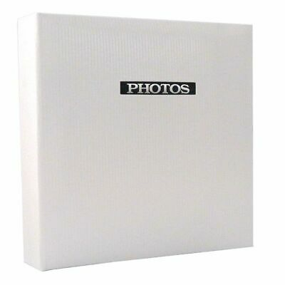 Elegance White 7x5 Slip In Photo Album - 100 Photos Overall Size 7.5x6""