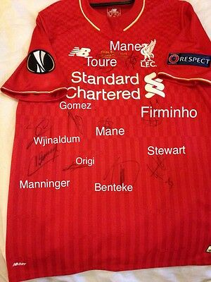Liverpool Europa Cup Final Shirt 2016 Signed By 10. Patches. Bnwt. Official.