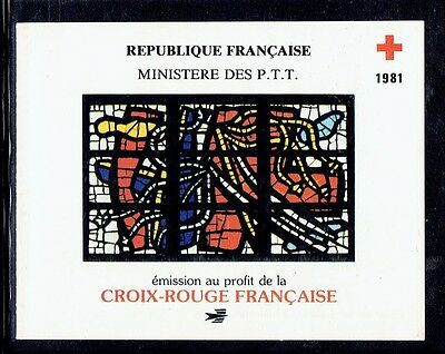 France, Red Cross, Mnh Stamps Booklet 1981