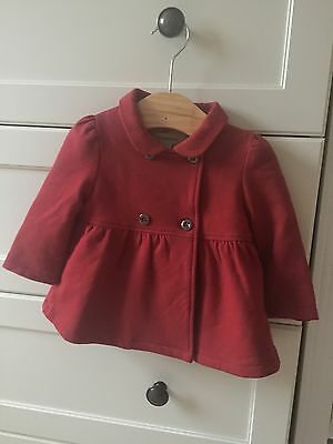New Burberry Red jersey Jacket 6months