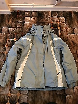 Helly Hansen Pale Green Ski Jacket size Women's  xl (16) Excellent Condition