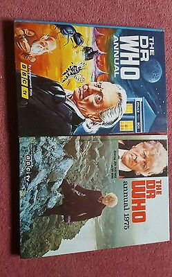 Doctor dr who annuals hartnell and pertwee retro job lot hardback books