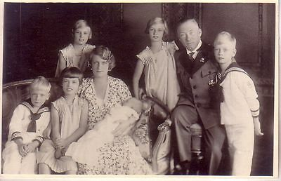 Germany -  Hohenzollern Family unused real photo postcard
