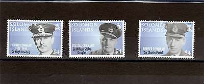 Solomon islands QEII  90TH ANNIV OF ROYAL AIRFORCE PART SET 3 of 5 MNH