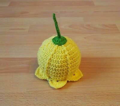 New Crochet Daffodil Flower Hat - Baby/Child Sizes - Wales - St. David's Day