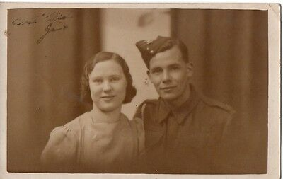 "WW2 ""Soldier & Wife Photograph"" (Postcard Size)"