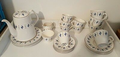 """Vintage Lord Nelson ware """" Camelot """"23 piece china  tea/coffee set"""