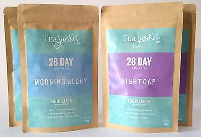 Tea Junkie AU Teatox Together - 28 Day Body Detox + 2x Tea Infusers of choice