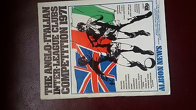 The Anglo - Italian Inter - League Clubs Competition 1971