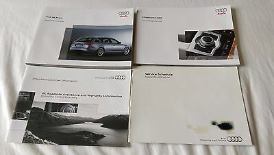 Genuine Audi A6 Owners Manual & Service Record Handbook 2009