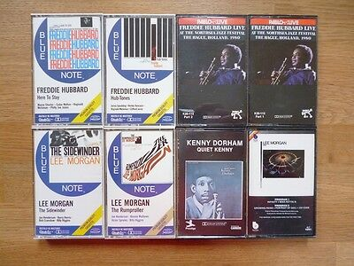 Eight Music Cassette Tapes - Jazz (incl. Freddie Hubbard, Lee Morgan, Kenny Dor)