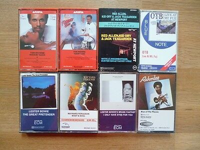 Eight Music Cassette Tapes - Jazz (incl. OTB, Red Allen, Tom Browne, Lester Bow)