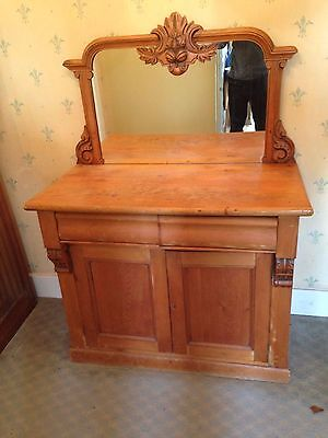 mirror backed pine sideboard/chiffonier dated 1910