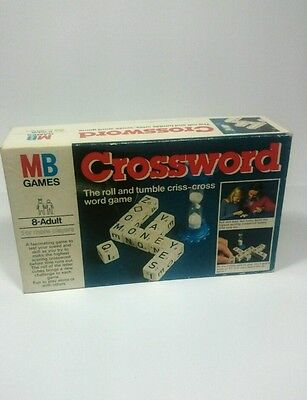 Vintage CROSSWORD RETRO 1978 Cross Word Dice Board Game COMPLETE ,a4
